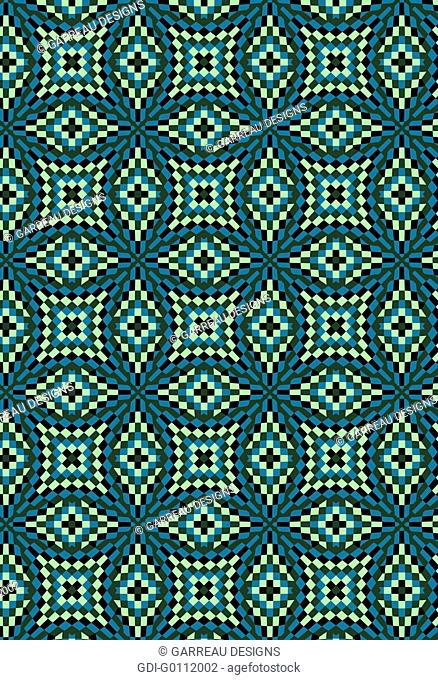 Pixilated mosaic design