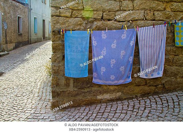 Towels put out to dry, Aggius, Sardinia, Italy