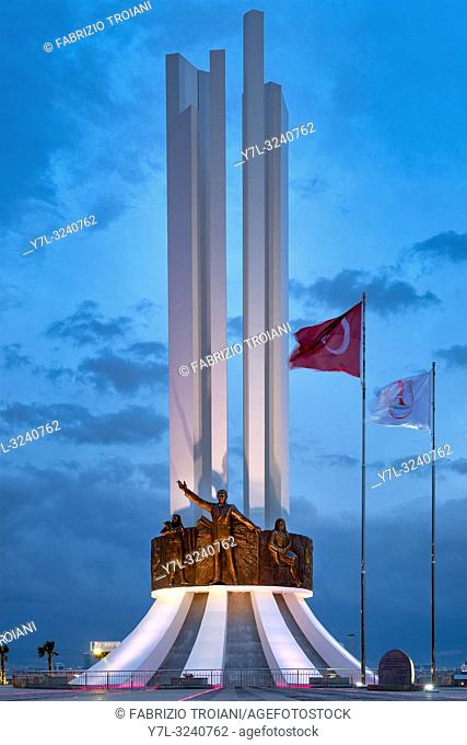 Monument of Ataturk, His Mother and Womenâ. . s Rights in the district of KarŠŸÄ±yaka, Izmir, Turkey