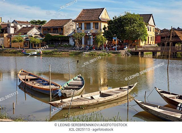 Thu Bon River view. Hoi An, Quang Nam Province, Vietnam