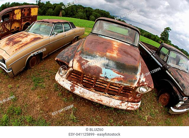 Sitting rusty car Stock Photos and Images | age fotostock