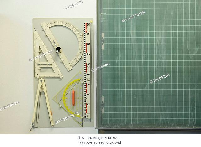 School stationery equipment set, Munich, Bavaria, Germany