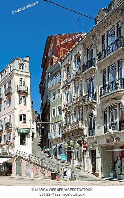 Historic architecture in the old town of Coimbra, Portugal, Europe