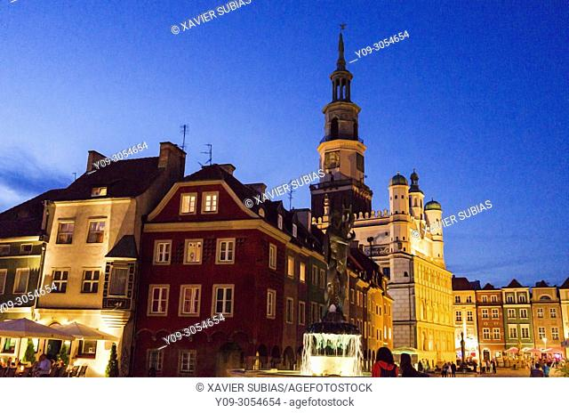 Old marketplace and city hall, Poznan, Poland