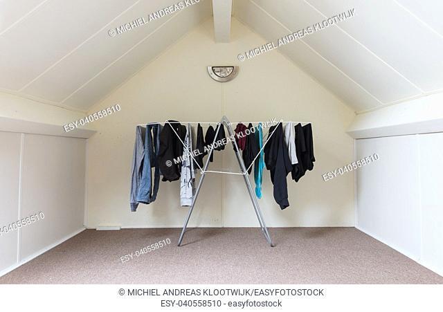 Empty attic room interior - Simple small dutch attic