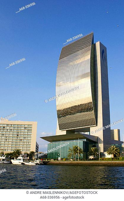 National Bank of Dubai at Dubai creek. Dubai city. UAE