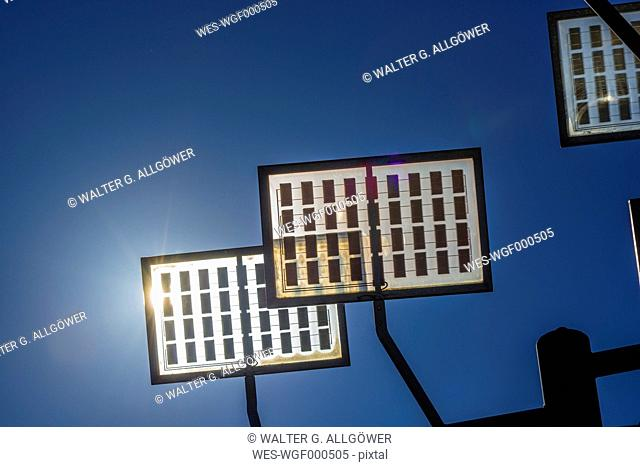 Germany, Ulm, solar tree in the Ulmer residential area solar city