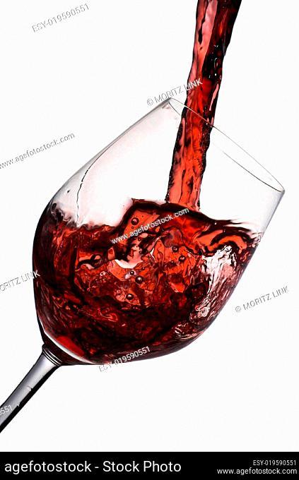 Volles Rotweinglas
