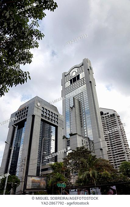 Banyan tree Hotel and Buildings in Bangkok in Thailand
