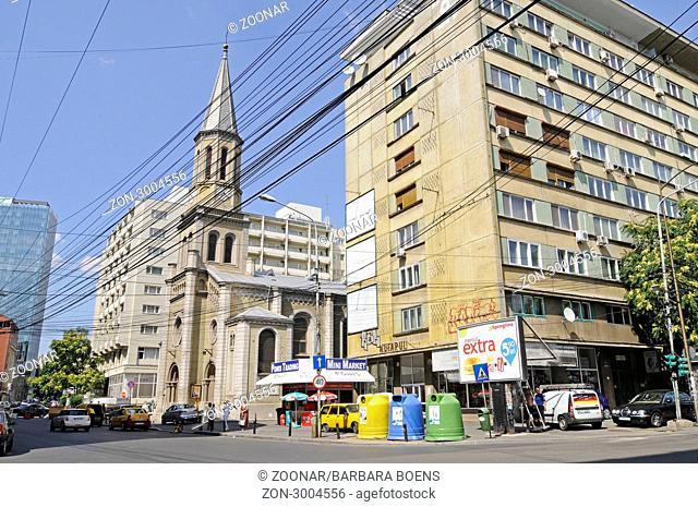 Protestant church, Bucharest, Romania, Eastern Europe, evangelische Kirche, Bukarest, Rumaenien, Osteuropa