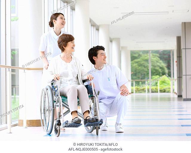 Japanese nurses with patient