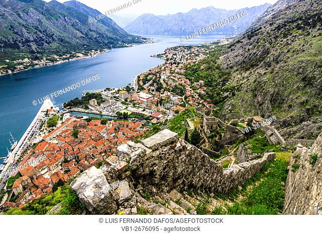 Kotor overview from the citadel. Montenegro