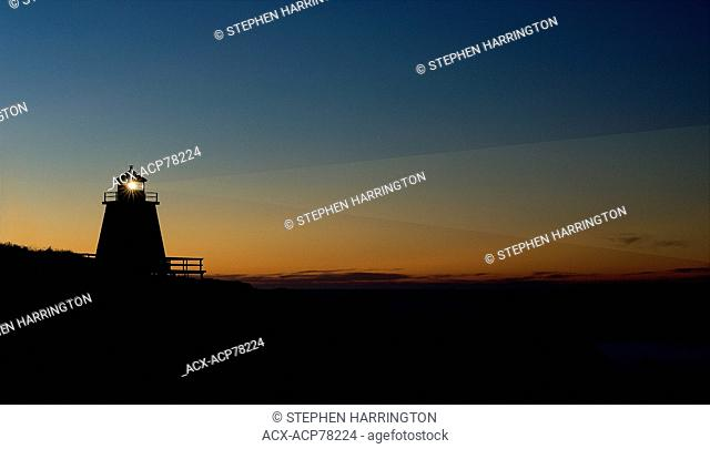 Margaretsville Lighthouse, Bay of Fundy, Nova Scotia (manipulated image)