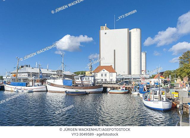 Fishing harbor, Burgstaaken, Fehmarn, Baltic Sea, Schleswig-Holstein, Germany, Europe