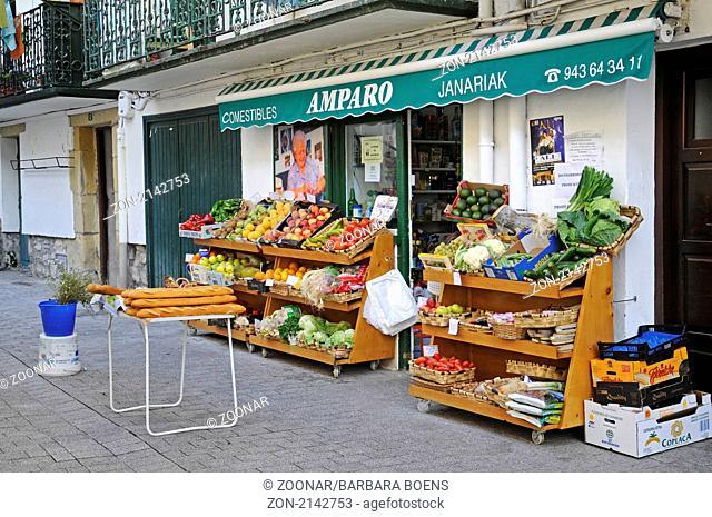 Food store, Lebensmittelgeschaeft, Hondarribia, Irun, Pais Vasco, Basque Country, Baskenland, Spanien, spain
