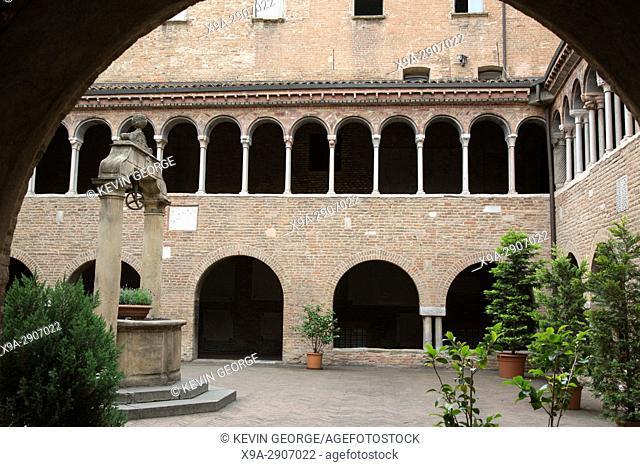 Cloister of Basilica Church Santo Stefano; Bologna; Italy