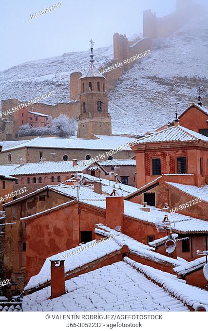 Winter landscape in Albarracín. Teruel