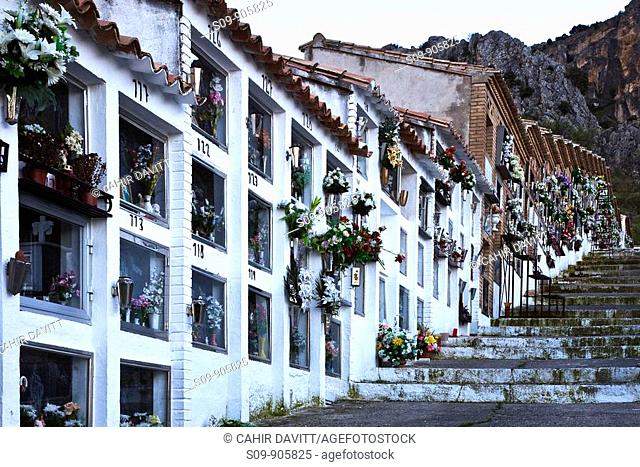 Spain, Andalucia, Acra, Quesada, general view of cemetery located near the town of Quesada