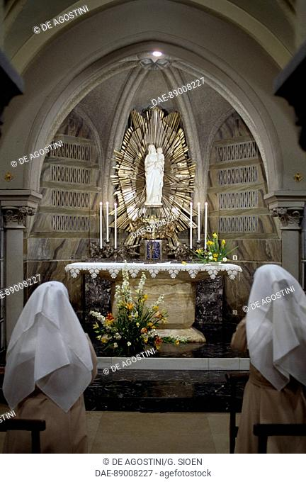 Altar of the crypt, Basilica of Our Lady of the Rosary, Lourdes, Languedoc-Roussillon-Midi-Pyrenees, France, 19th century