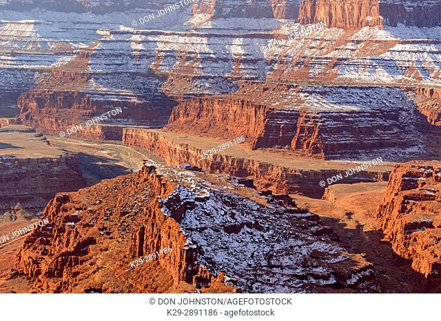 Colorado River Canyon from Dead Horse viewpoint, Dead Horse Point State Park, Utah, USA