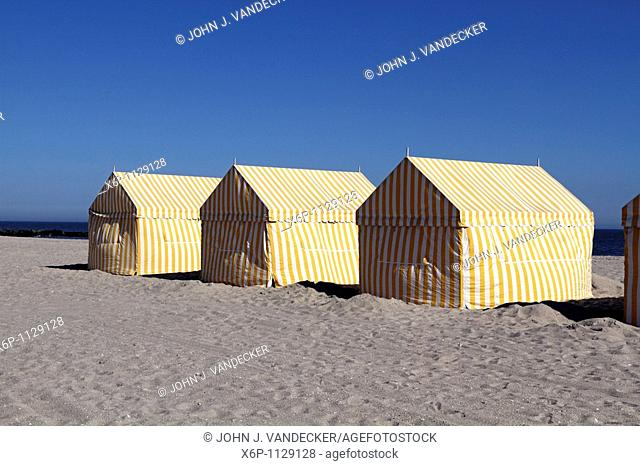 Cabanas on the beach, Cape May, New Jersey, USA