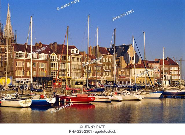 Boats and harbour, Ostend, Belgium