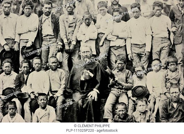Father Damien / Saint Damien of Molokai / Jozef De Veuster, Roman Catholic missionary who ministered to lepers on the island of Molokai, Hawaii