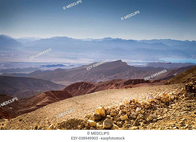 The Mountain Ranges Chain of Timna Part of The Eilat Mountains