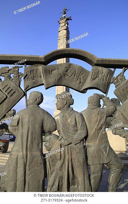 Kazakhstan; Almaty, Independence Monument,