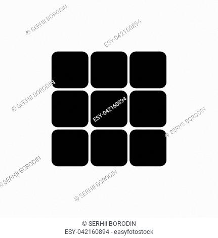 Panel enter it is black color icon