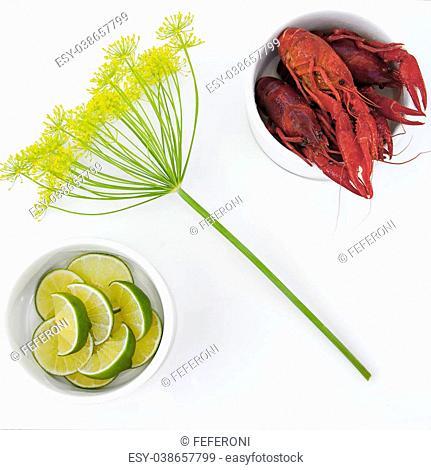 Image of an elegant meal of crayfish