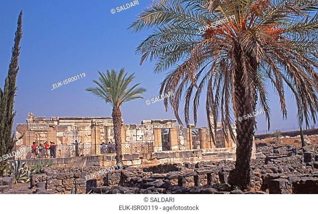 Ruins of the synagogue,Capernaum,Israel