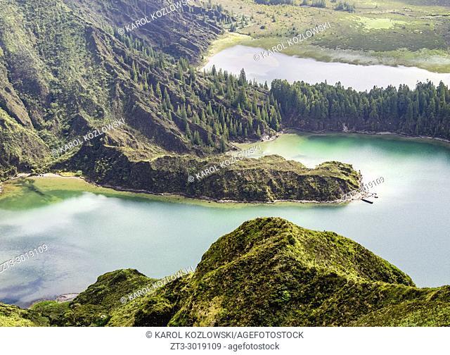 Lagoa do Fogo, Sao Miguel Island, Azores, Portugal
