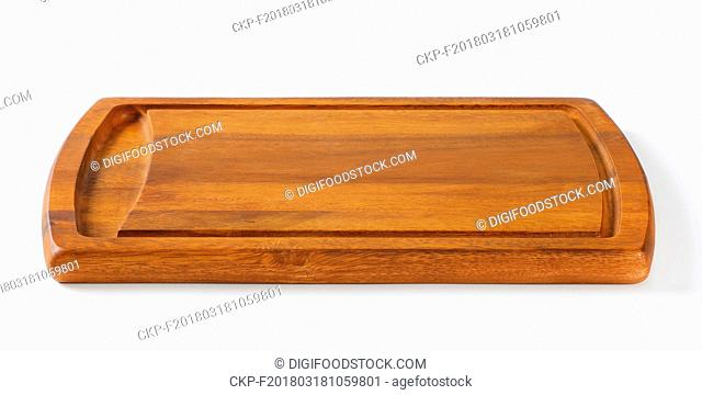 rectangle wooden cutting board with juice groove