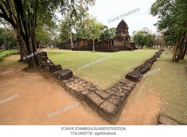 The Khmer temple ruins at Mueang Sing Historical Park near Kanchanaburi, Thailand