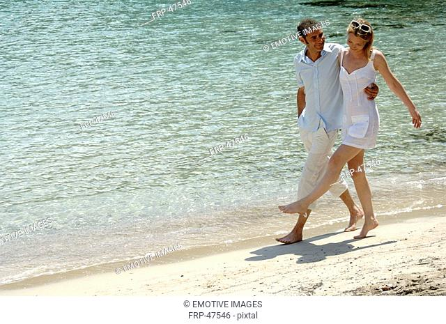Walk at the beach