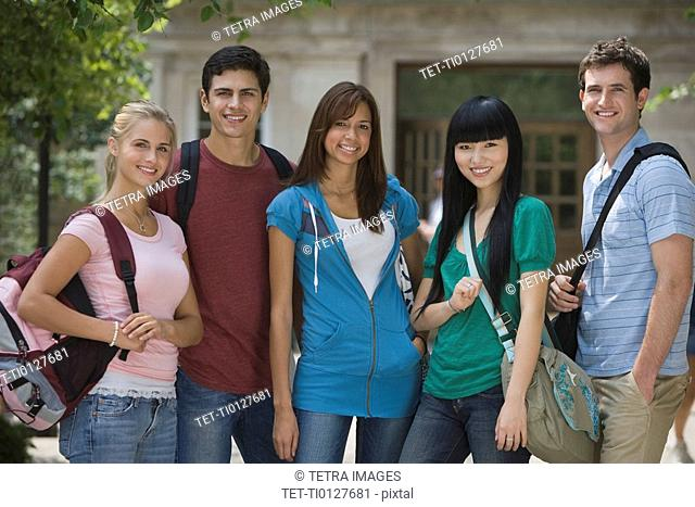 Group of multi-ethnic college students