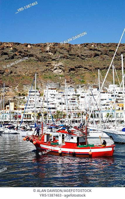 Traditional fishing boat, Puerto de Mogan, Canary Islands, Spain