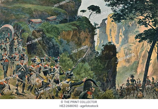 'The French Army in the Mountains of Portugal', 1896. Artist: Unknown