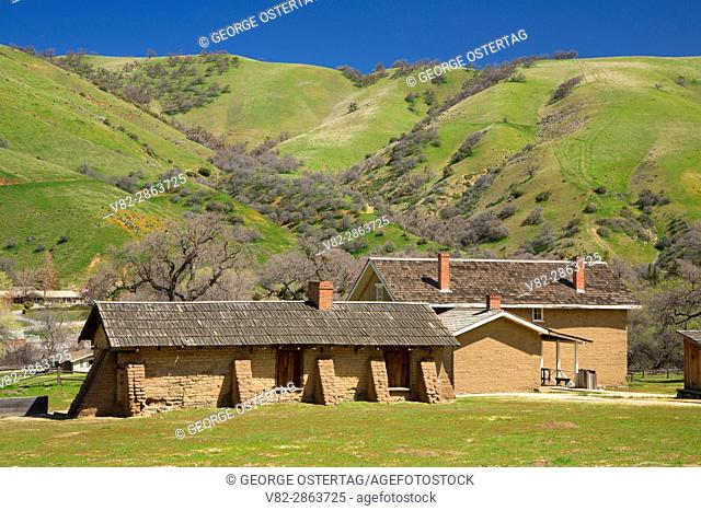 Orderlies' Quarters with Officers' Quarters, Fort Tejon State Historic Park, California