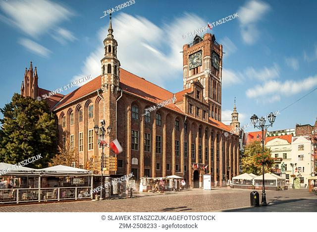 Historic Town Hall in Torun old town, Kujawsko-Pomorskie province, Poland. UNESCO World Heritage Site