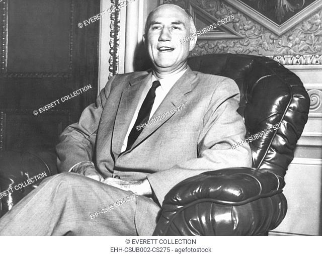 Senator Strom Thurmond takes a break from his filibuster against the 1957 civil rights bill. The South Carolina Democrat made the longest filibuster ever...