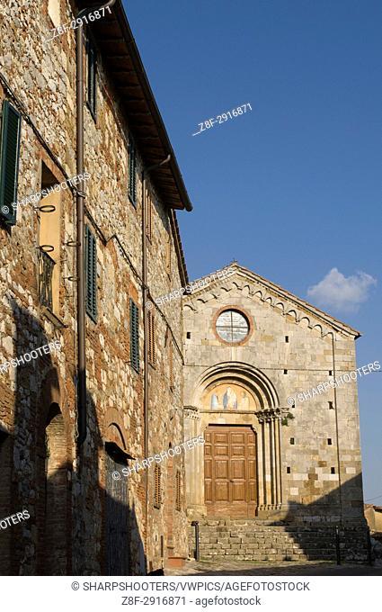 San Leonardo church, Montefollonico, Val d'Orcia, Siena province, Tuscany, Italy