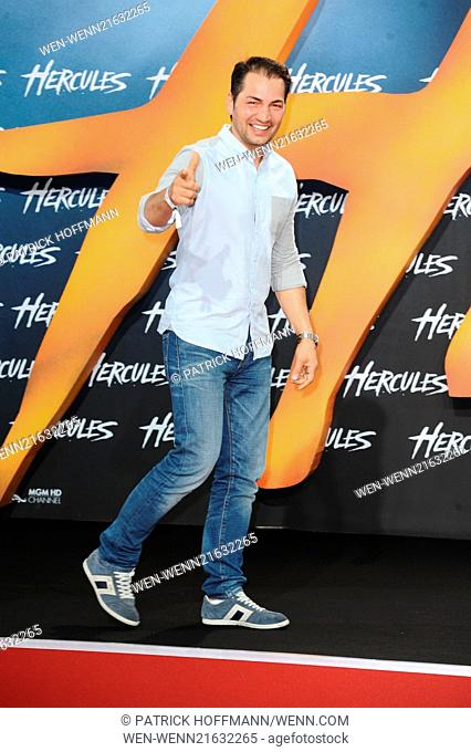 European premiere of 'Hercules' at Cinestar am Potsdamer Platz movie theater. Featuring: Buelent Sharif Where: Berlin, Germany When: 21 Aug 2014 Credit: Patrick...