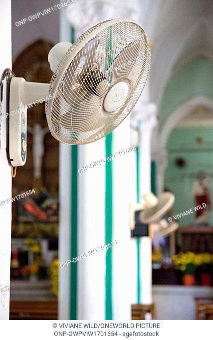 Vietnam, H? Chí Minh, Ho Chi Minh City, A Roman Catholic Church in Saigon / Ho Chi Minh City in the Chinese Quarter on New Year's Day Tet