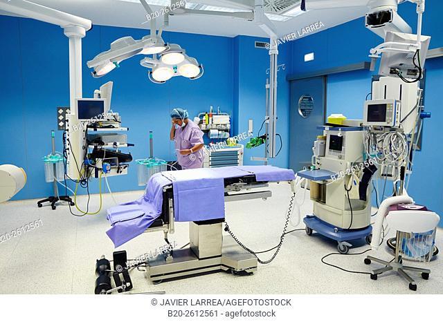 OR. Operating theater. Hospital. Donostia. San Sebastian. Gipuzkoa. Basque Country. Spain