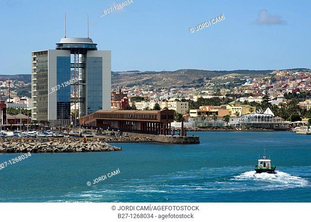 V Centenario building and Marina  Melilla Spain