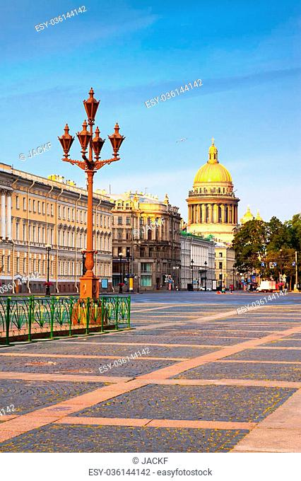 Views of St.Petersburg. Saint Isaac's Cathedral in summer