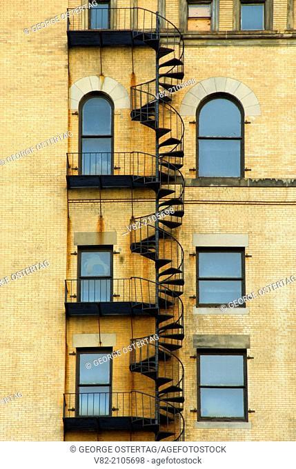 Fire escape, Freedom Trail, Boston National Historic Park, Boston, Massachusetts