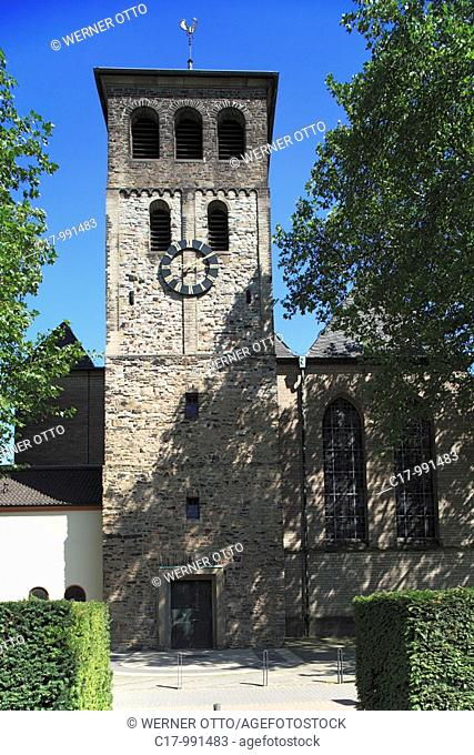 Germany, Duisburg, Rhine, Lower Rhine, Ruhr area, North Rhine-Westphalia, Duisburg-Hamborn, abbey Hamborn, Premonstratensian monastery Saint Johann Baptist